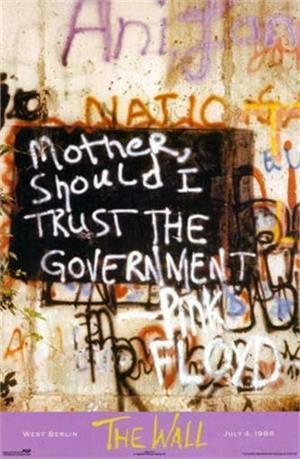 """PINK FLOYD """"MOTHER, SHOULD I TRUST THE GOVERNMENT?"""" POSTER - 24"""" X 36"""""""