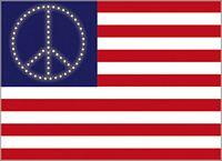 POSTCARD - USA PEACE FLAG