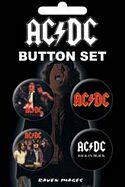 AC/DC - 4 BUTTON SET
