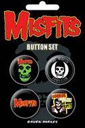 MISFITS - 4 BUTTON SET