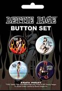 BETTIE PAGE - 4 BUTTON SET