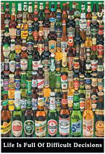 BEER DECISIONS - POSTER - 24