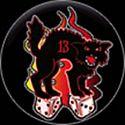 BLACK CAT 13 BUTTON