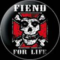MISFITS - FIEND FOR LIFE BUTTON