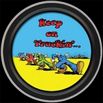 R. CRUMB - KEEP ON TRUCKING ROUND STASH TIN