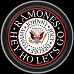 RAMONES EAGLE LOGO ROUND STASH TIN
