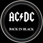 AC/DC BACK IN BLACK ROUND STASH TIN