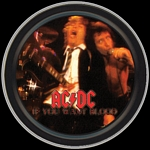 AC/DC IF YOU WANT BLOOD ROUND STASH TIN