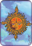 MIKIO KENNEDY - SUN FACE LARGE STICKER - 2 1/2