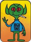 HIGH TIMES ALIEN - LARGE STICKER - 2 1/2
