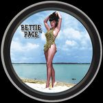BEACH BETTIE PAGE ROUND STASH TIN